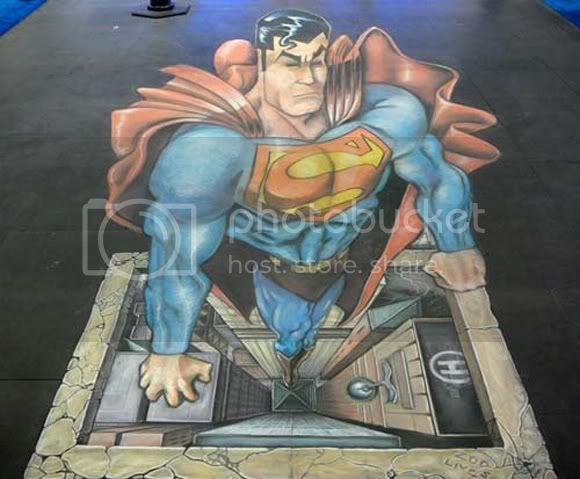 Superman chalk art photo 1wr.jpg